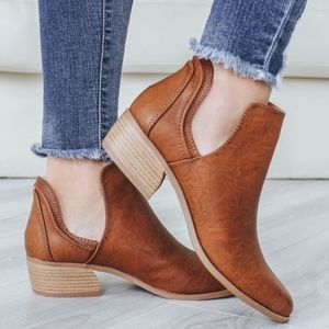 DOLLY Cut out Booties - Cognac